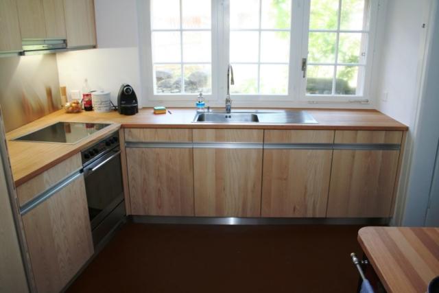 Küche Esche, Dreischicht