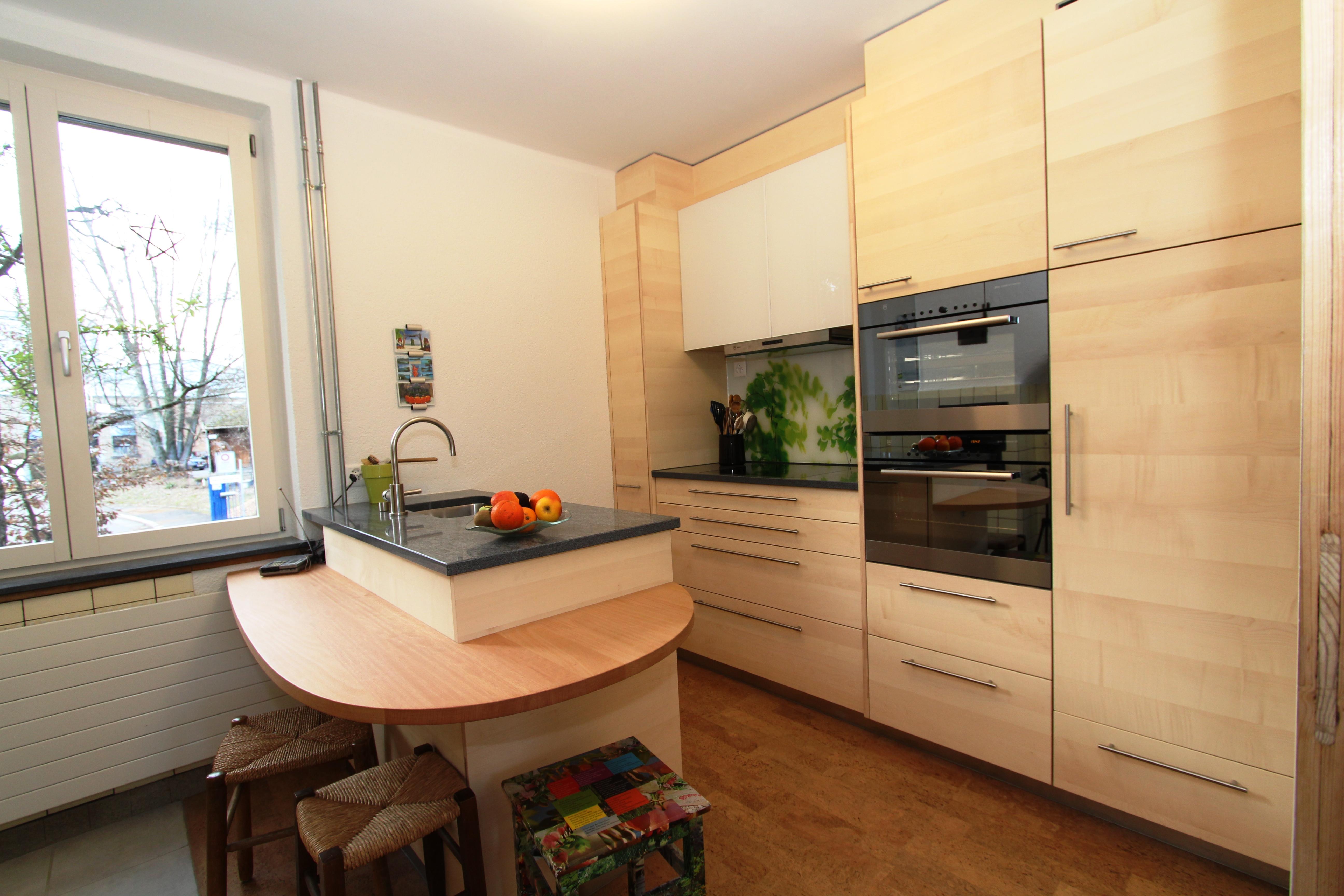 Küche Sperrholz, Fronten Ahorn Dreischicht