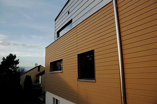Aufstockung Wohnhaus Seitenansicht
