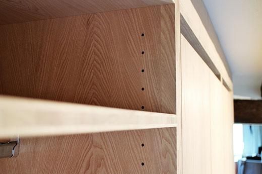 Garderobe Esche 3-Schicht